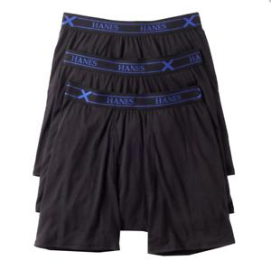Ultimate X-Temp Boxer Briefs Longer Leg Black Cotton ~ 6XL NIP Men/'s Hanes 3-pk