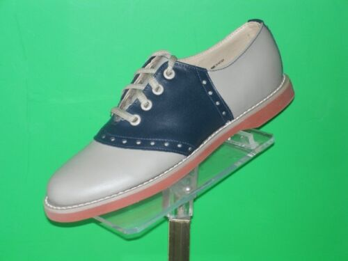Muffy/'s Classic BROWN//beige Saddle Oxford Shoes Leather US Wms