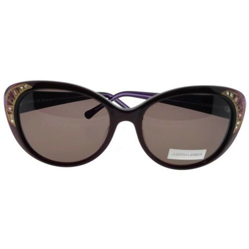 Judith Leiber JL5004-06-58 Cat Eye Women/'s Ruby Frame Brown Lens Sunglasses NWT