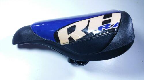 SD019BL BMX Retro Racing Saddle Black Blue Vintage NOS Padded Seat Vinyl top RH