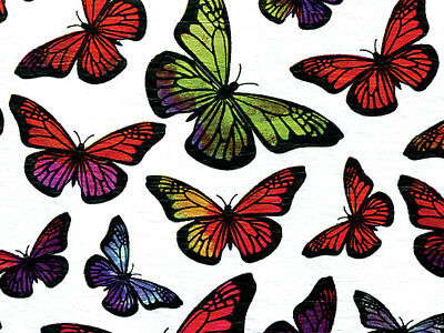 """Teal Blue Green /""""Floral Butterflies/"""" Tissue Paper Gift Wrapping 20/""""x30/"""" Sheets"""