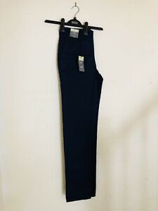 Marks-And-Spencer-Mens-Navy-Blue-Slim-Fit-Trousers-30-Long-M-amp-S-Brand-New