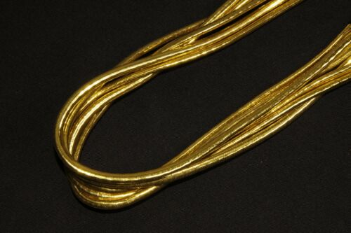 Six Rows Gold Elastic Headband Great Party Carnival Costume Accessory S472