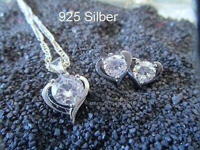Schickes Armband mit Herzchen-Anhänger Echt Sterling Silber 925 Geschenk Neu H