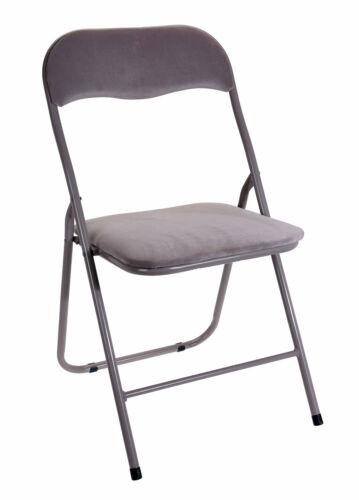 Sedia Pieghevole Metallo//Velluto-Beige-imbottitura diversità sedia sedia ospiti beistellstuhl