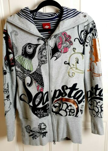OILILY ~ SOAPSTAR Hoodie Thumb Hole Cuffs Cozy Kni