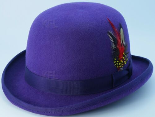 New Mens Ladies Unisex King 100/% Wool Quality Hand Made Top Hat Size S M L XL
