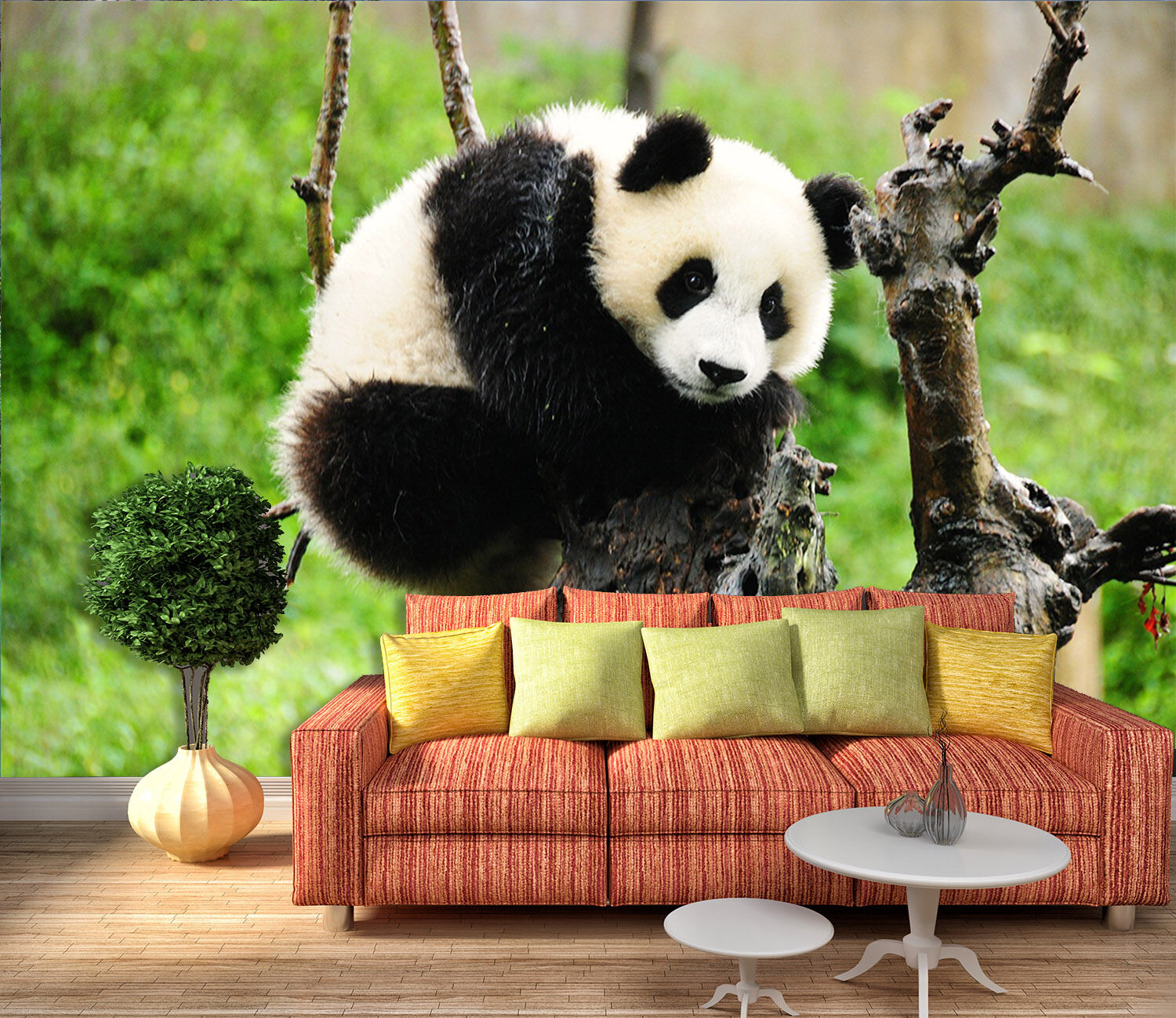 3D Branches Panda 339 Wall Paper wall Print Decal Wall Deco Indoor wall Mural
