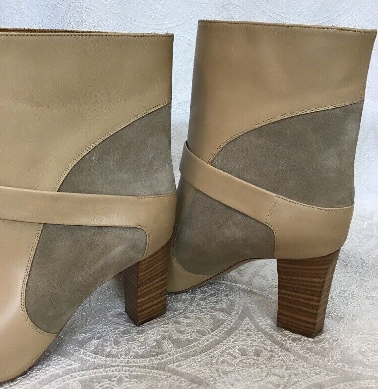Chlóe Short Boot New Tan Suede And  Leder Size 39.5 New Boot aaebbc