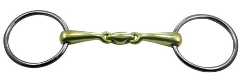 Loose Ring Double Jointed Bit with cuprium mouth oval Link 22 188 copper
