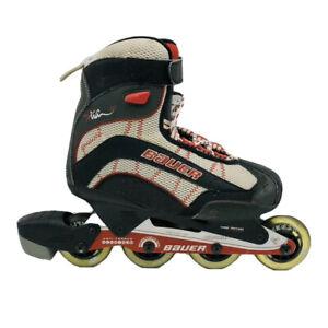 Bauer-Xtra-6-0-Hockey-Roller-Blades-Inline-Skates-Men-039-s-Size-8-W