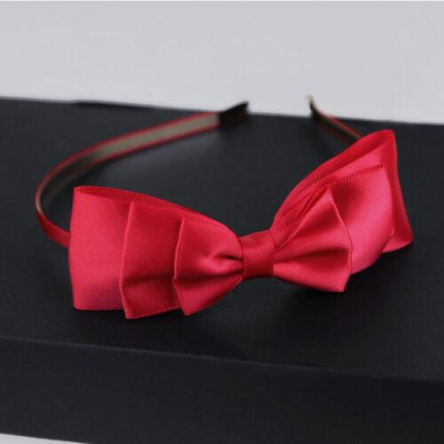 Women And Girls Big Bowknot Ribbon Headbands Bow Head Band Clip Hair Accessory