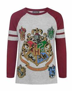 Harry-Potter-Hogwarts-Girl-039-s-Raglan-Long-Sleeved-T-Shirt
