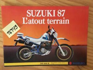 Details About Suzuki Range 1987 Dr Vs Gsxr Ls Gr Gsxf Prospectus Motorrad Brochure Fold