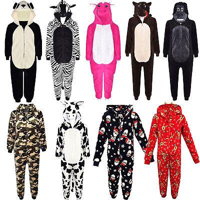 Kids Girls Boys A2Z Onesie One Piece Soft Fluffy Reindeer Halloween Costume 3-13