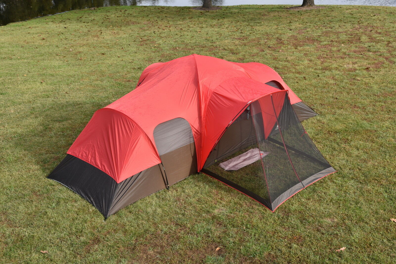 Tienda de campaña 10 personas Grande 3-duerme cuarto apantallado-porche Rain-Fly Malla Techo Nuevo