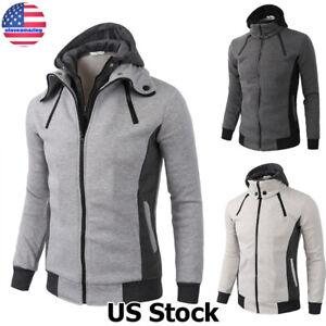 Jacket-Warm-Hoodie-Men-039-s-Coat-Sweater-Hooded-Sweatshirt-Outwear-Winter-Tops-USA