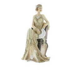 Juliana Art Deco Broadway Belles Cream /Gold Lady Figurine / Ornament.New.58433