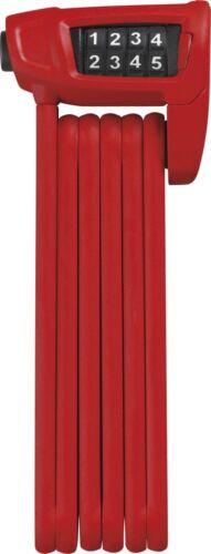 Tasche Schlösser & Sicherheit ABUS Bordo Combo Lite 6150/85 Fahrrad-Faltbügelschloss Rot m Zahlencode