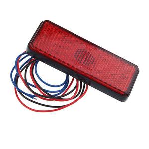 2PCS Universal 12V Red Vehicle Car ATV SUV LED Stop Fog Tail Brake Light Lamp