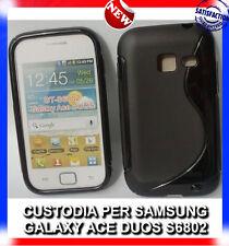 Pellicola+Custodia cover case WAVE NERA per Samsung Galaxy Ace Duos S6802