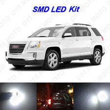17 x White LED interior Bulbs Fog Reverse Tag Lights For 2010-2016 GMC Terrain