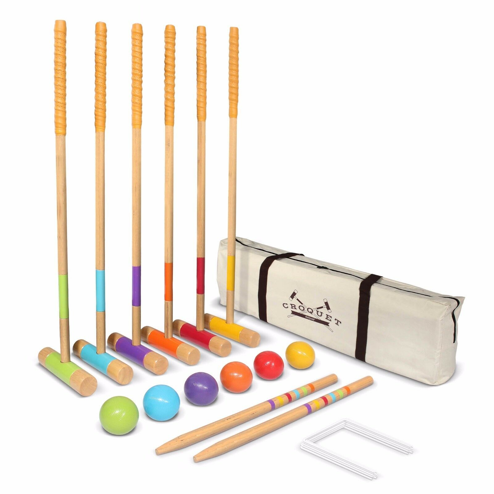 GoSports Premium Croquet Set for Adults & Kids with FREE Carrying Case