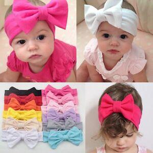 magasins d'usine convient aux hommes/femmes date de sortie: Détails sur Bandeau Cheveux Serre-tête Turban Noeud Papillon Mariage Fête  Fille Enfant Bébé