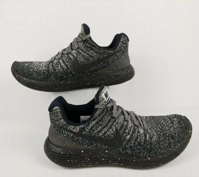 labio Decano Árbol de tochi  Nike Lunarepic Low Flyknit 2 Black Purple - Womens - Size 8 D for sale  online | eBay