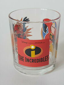 Rare-INCREDIBLES-DISNEY-PIXAR-3-5-034-2000s-Tumbler-Glass-EXCELLENT-CONDITION