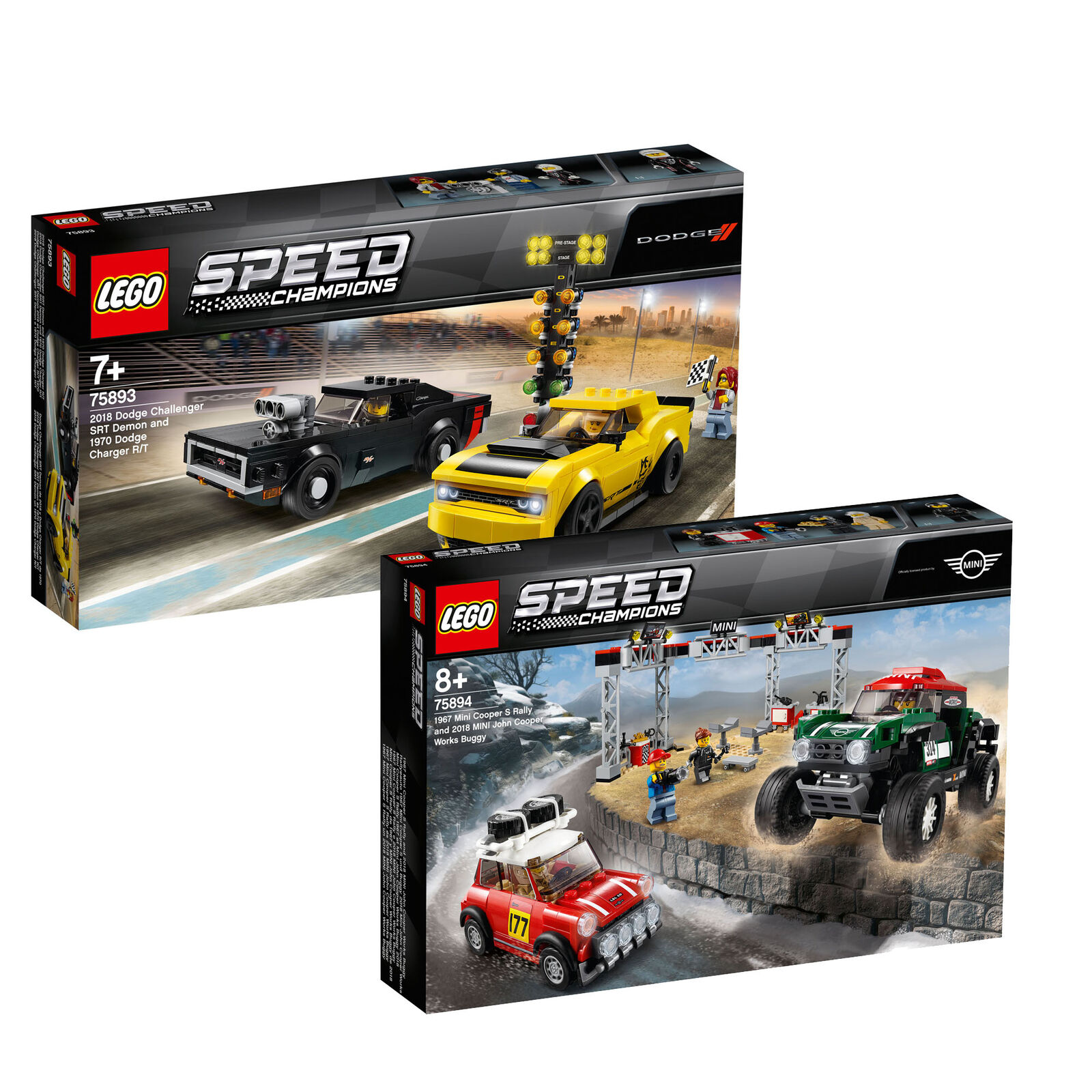 LEGO Speed Champions Twin Pack  Mini Cooper & Dodge Charger 75893 & 75894
