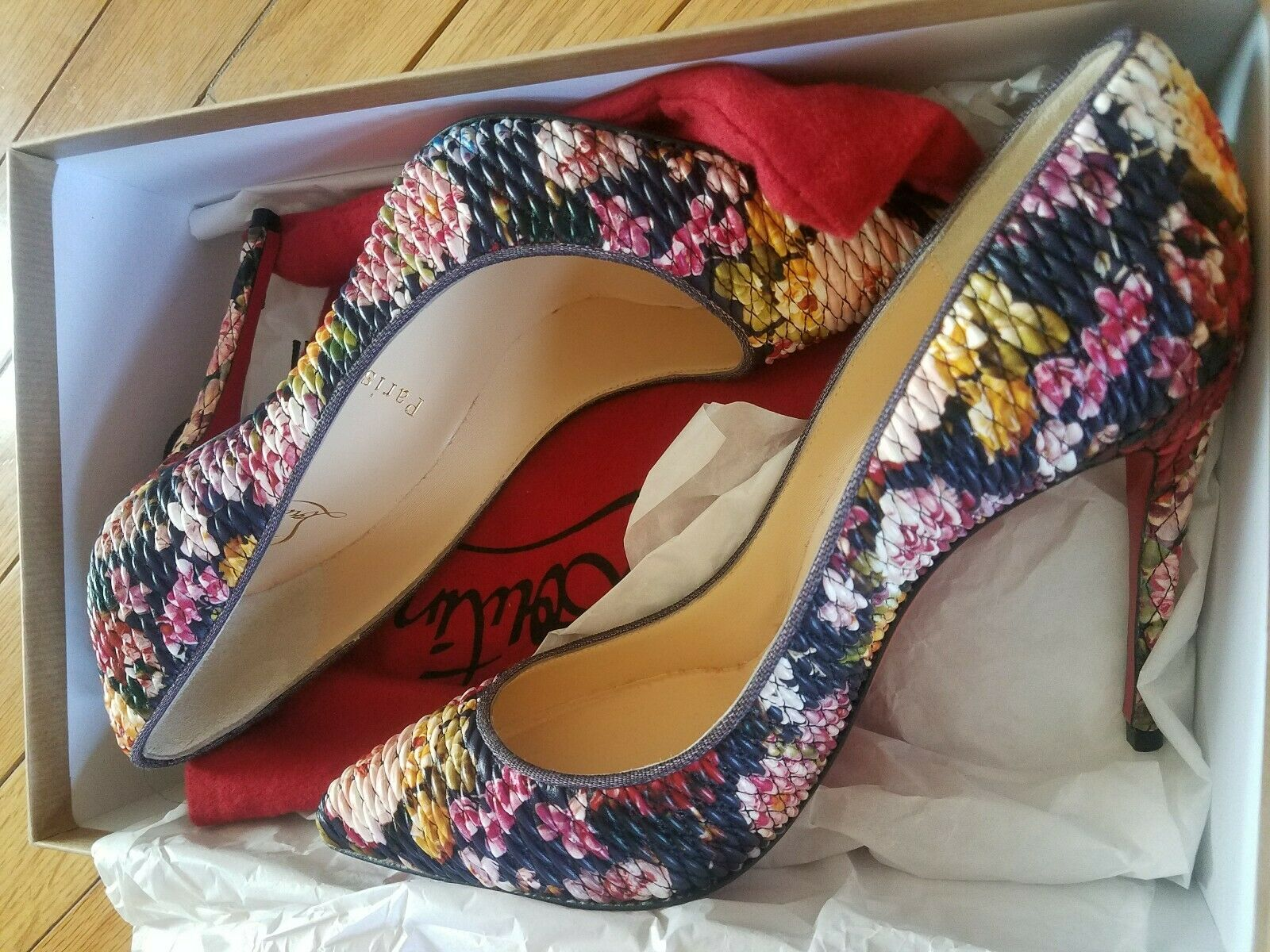 Christian Christian Christian Louboutin Multicolord Floral Pigalles (Free Shipping) c70f43