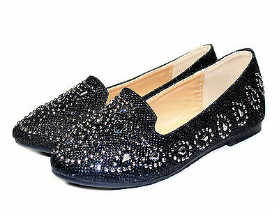 lonita-74k New‖Kids Toddlers Youth Blink Flat Party Wedding Girl/'s Shoes Black 3