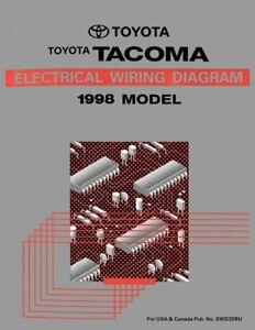 1998 Toyota Tacoma Wiring Diagrams Schematics Layout Factory OEM | eBayeBay