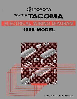 1998 toyota tacoma wiring diagrams schematics layout factory oem | ebay  ebay
