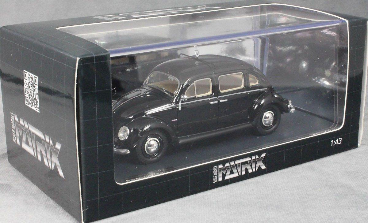 Matrix VW Beetle ROMETSCH TAXI 1951-Nero Modello in resina di qualità, Scala 1 43