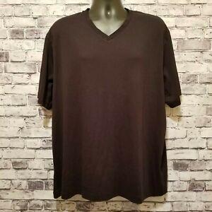 Daniel-Cremieux-Mens-T-Shirt-Sz-XL100-Pima-Cotton-Black-Short-Sleeve-V-Neck-NEW