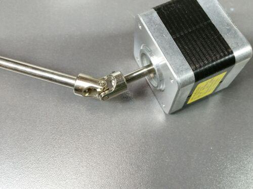 "4mm x 6.35mm 1//4/"" Steering Shaft Joint Coupler Stepper DC Motor RC Model U-Joint"