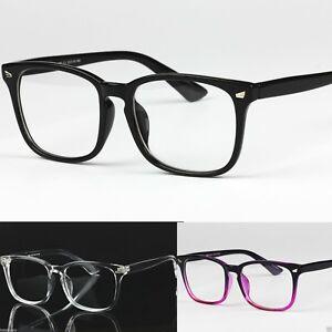 siempre popular estilo de moda encontrar mano de obra Detalles de Para Hombre Para Mujer Transparente Lente Marco Cuadrado  Vintage Retro Moda Geek Gafas- ver título original