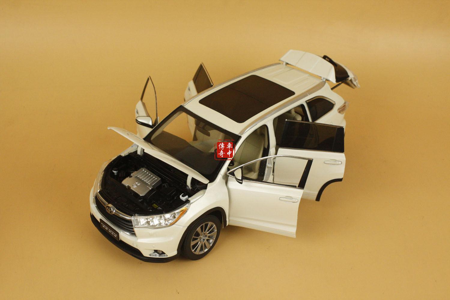 1 18 Toyota Highlander Highlander Highlander 2015 Nuevo Modelo Diecast Color blancoo + Regalo 4f9e65