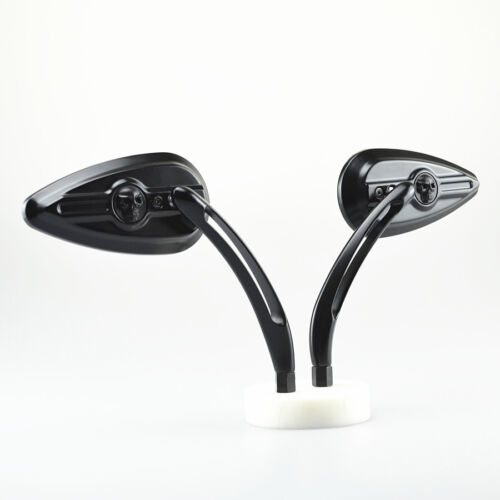 Black Skull Rearviwe Mirrors For Harley Sporster Dyna Road Glide Honda Yamaha