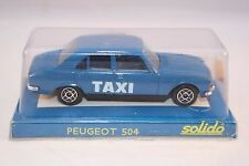 Solido 1506 Peugeot 504 TAXI 1: 43 mint in box superb 2e