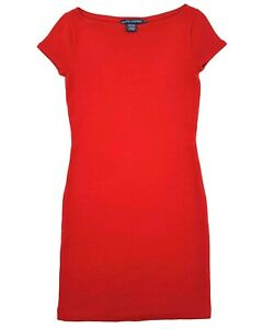 Ralph-Lauren-Wool-Blend-Red-Dress-Size-Small-Womens