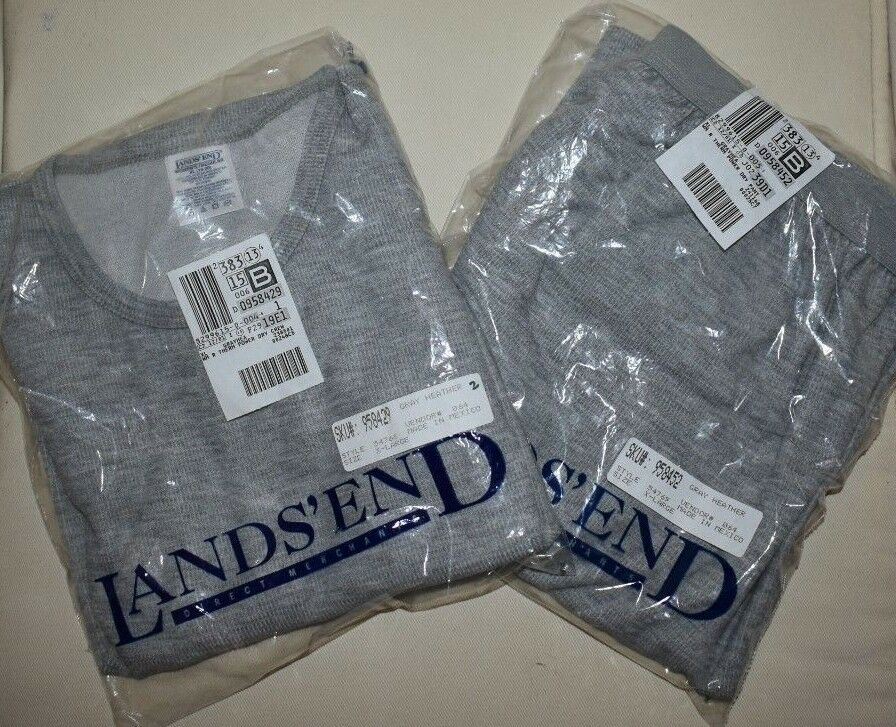 NEW Womens LANDS END Thermal Base Layer Set XL Shirt and Pants NWT