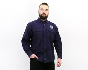 Drift Creek Outdoors vtg Men's L Moleskin Shirt Long Sleeve Button Up Alaska Top