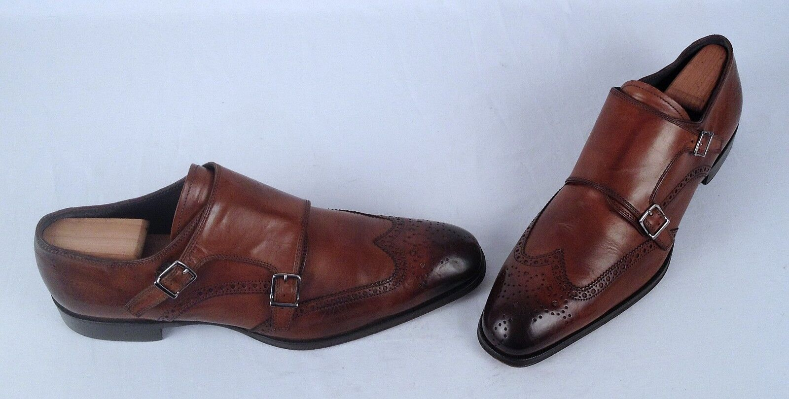 To Boot New York Astor Wingtip Double Monk - Brown Size 13 M   450 (H7)