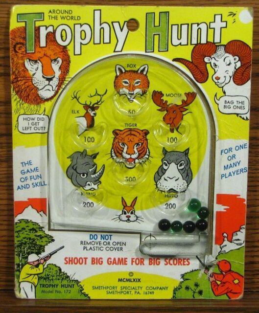 Trophy Hunt Pinball Game 1969 Around the World ~ No. 172 ~ Smethport