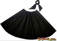 "Standard 26"" Black Full Circle Rock N Roll 1950s Skirt & Scarf"