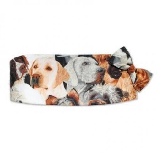Dogs Cummerbund and Bowtie Set