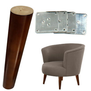 Details About 4x Tapered Wooden Sofa Legs 8 Walnut Furniture Diy Feet Bench Bed Replace Leg